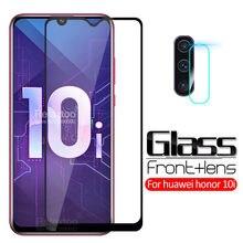 2-em-1 em honra 10i vidro para huawei honor 10i HRY-LX1T vidro temperado honer 10 i i10 honra 10i lente da câmera capa de película protetora