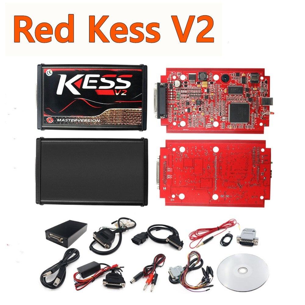 Czerwony Kess V2 V5.017 ue mistrz Online wersja V2.53 ciężarówka ECU programista nieograniczone tokeny dodać więcej 140 protokołów