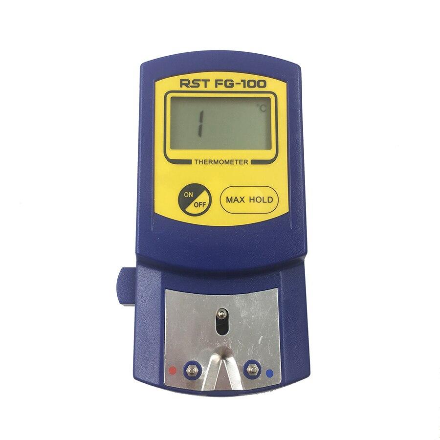 Цифровой термометр, тестер температуры для паяльника, наконечники + 5 бессвинцовых датчиков 0-700c