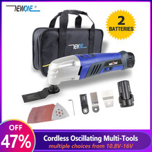 12V Li Ion Oszillierende Multi Werkzeug mit 2 batterie Cordless Power Tools für Home DIY Renovierung Werkzeuge Elektrische Trimmer sah