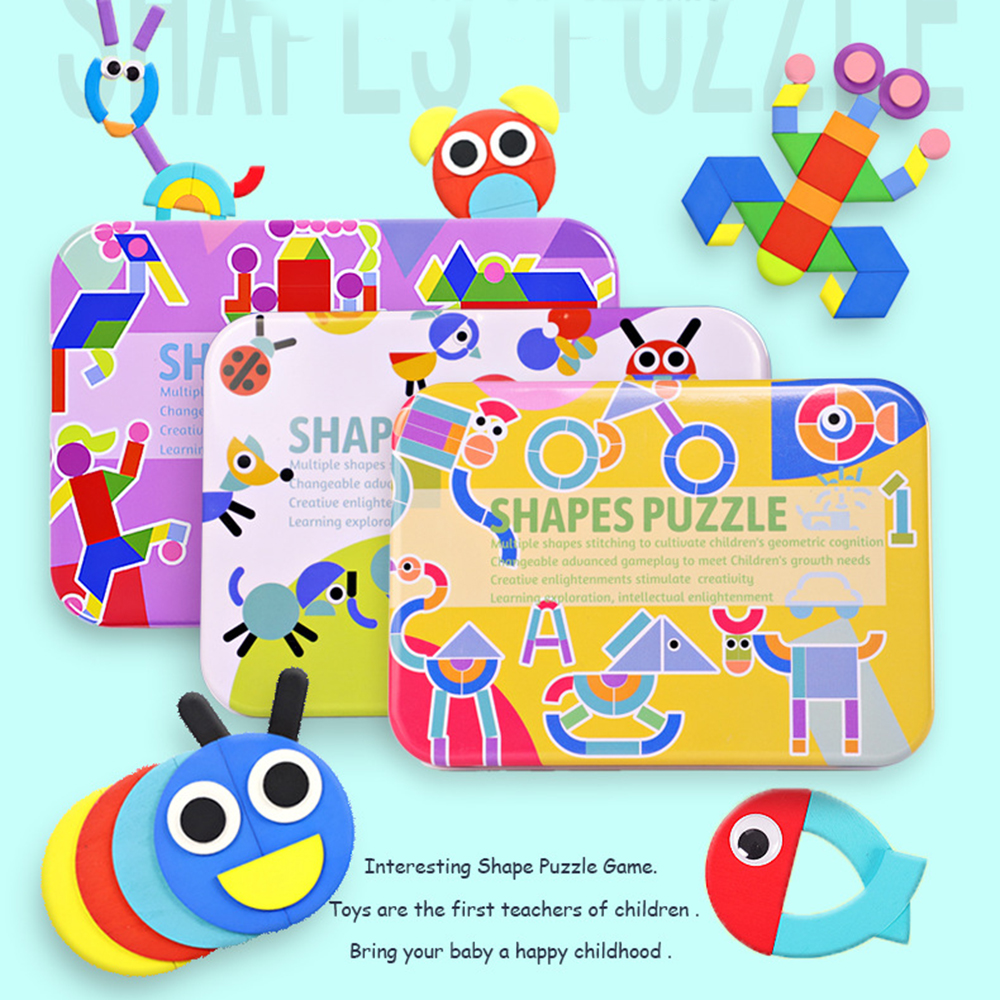 Kids Toy Wood Puzzle Wooden 3d Puzzle Jigsaw For Children Baby Cartoon Animal/traffic Puzzles Early Educational Toy