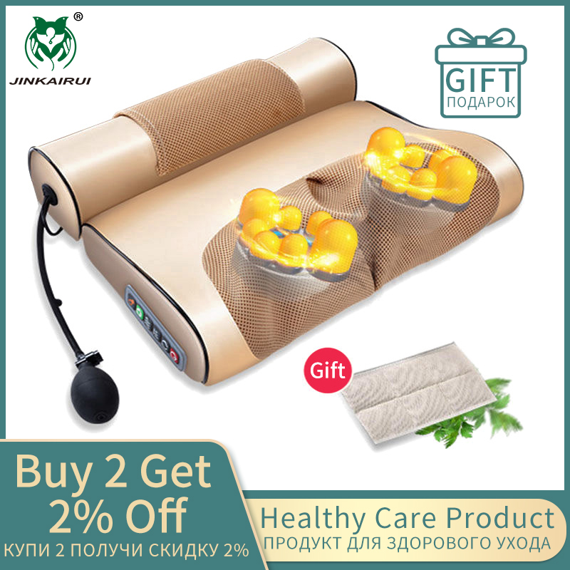 Jinkairui 2 In 1 Newest Upgrade Cervical Traction And Neck Massager Pillow Wormwood Relieve Pain Promote Sleep Solve Insomnia