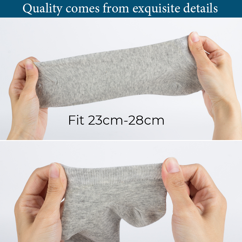 HSS Brand 100% Cotton Men Socks Summer Thin Breathable Socks High Quality No Show Boat Socks Black Short For Students Size 39-44
