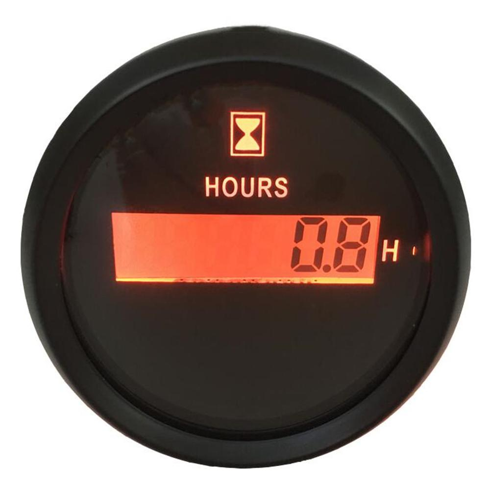 Pack of 1 Red Backlight 52mm Digital Hour Meters 9-32VDC LCD Hourmeters Waterproof <font><b>Clock</b></font> Gauges Time Gauges for Auto <font><b>Boat</b></font> image