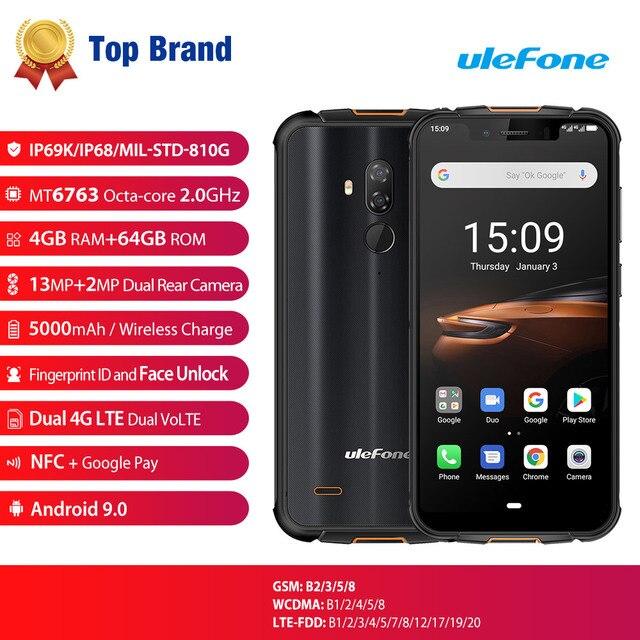 Ulefone درع 5S للماء IP68 NFC هاتف محمول وعر 5.85 ''الثماني النواة الروبوت 9.0 4GB + 64GB اللاسلكية تهمة 4G هاتف LTE الذكي