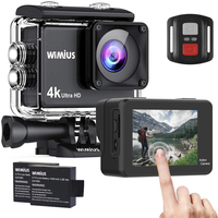 WIMIUS Q3 Ultra HD 4K Action Sports Camera 60fps 30M Waterproof Diving Action Cameras 16MP Bike Camera 170D Video Record Cam