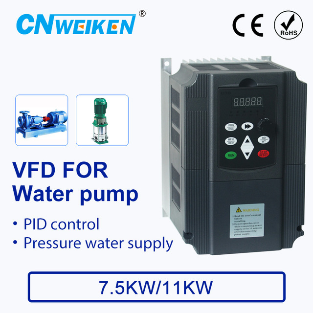 Water supply controller with constant pressure for pump converter 380V 7.5kw/11kw ac motor speed controller