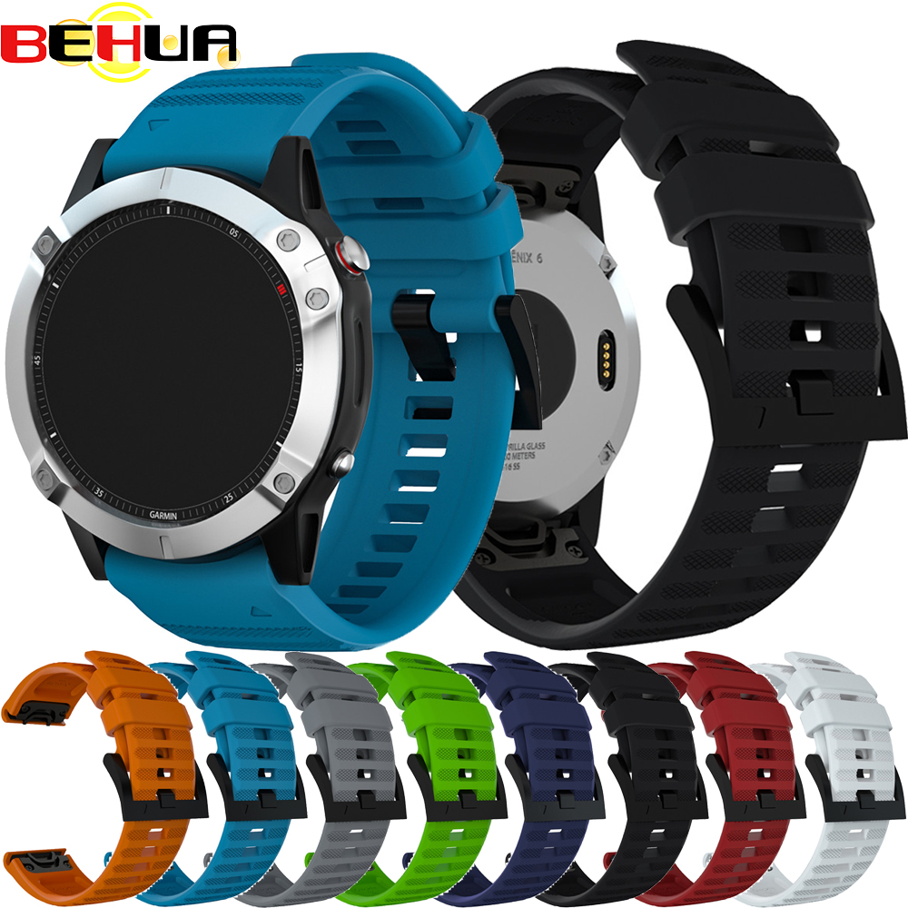 22mm Wrist Band With Quick Release Replacement Strap For Garmin Fenix 6 GPS Smart Watch Easy Fit Bands Belt Bracelet Watchband