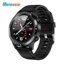 2020 nowy Microwear L12 inteligentny zegarek Bluetooth połączenia ekg + PPG pulsometr sportowy ciśnienie krwi IP68 wodoodporna VS L7 L11