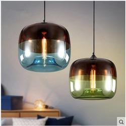 Nowy amerykański przemysł Loft lampy wiszące w stylu vintage czarny biały żelaza Edison szkło retro loftowa lampy wiszące w stylu vintage lampa w Wiszące lampki od Lampy i oświetlenie na