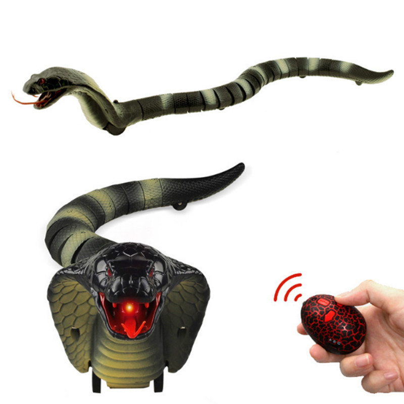 RC Snake Cobra Naja Remote Control Animal Trick Terrifying Mischief Toys for Children Funny Novelty Gift USB Rechargeable image