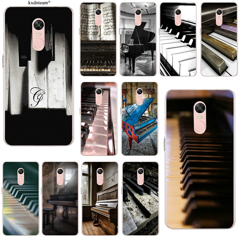 Soft Silicone Transparent Mobile Phone Cases for Xiaomi Redmi Mi Note 4X 2 3 3S 4A 5 6 5S 5X 5A 6X Pro Plus Music Software Piano image