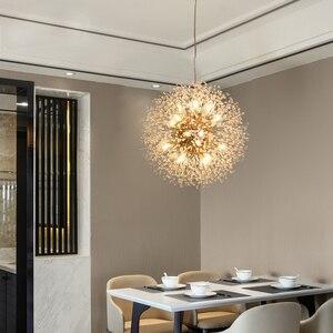 Image 4 - NGHỆ THUẬT Mặt Dây Chuyền Pha Đèn Tia Lửa Bóng Vàng/Bạc Cơ Thể Bồ Công Anh Dinning Phòng Khách Thanh Cá Tính Đèn