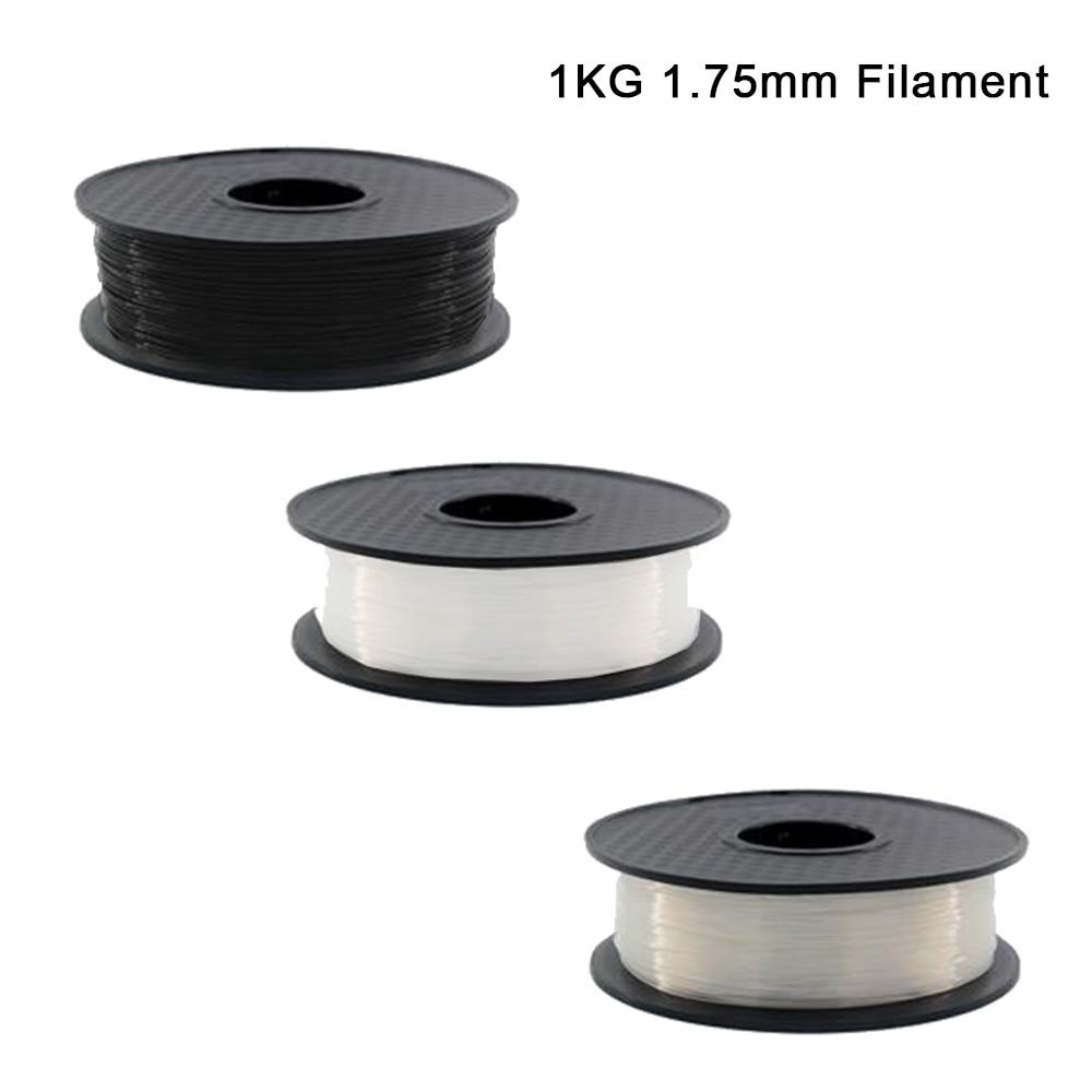White/Black Color 3D Printer Filament 1.75 mm PLA Materials 1KG for 3D Printer 1KG/Roll for 3D printer and 3D pen ender filament