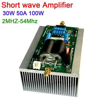 100W 50W 30A SSB linear HF Shortwave Power Amplifier 2MHZ-54MHz Assembled For YAESU FT-817 KX3 CW AM FM HAM radio Short wave