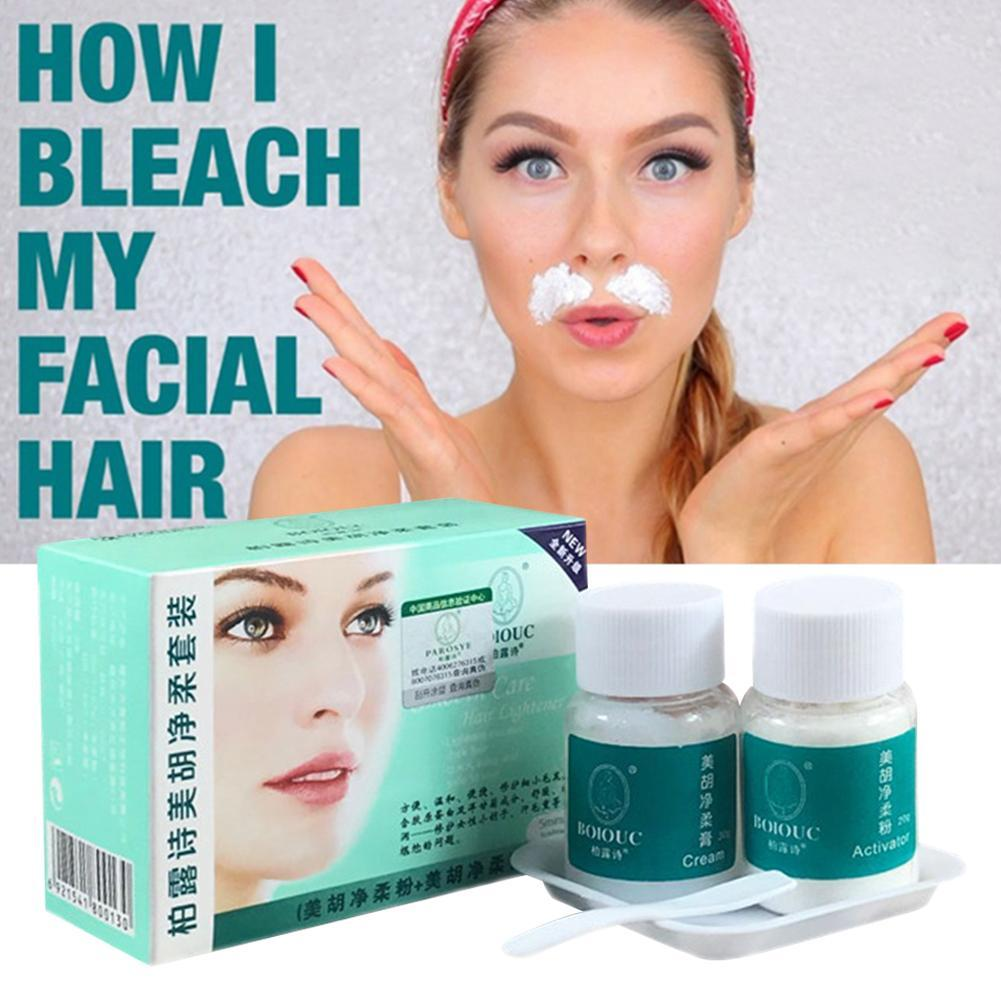 Eye Brow Cream Lighten Dark Hair Women Mustache Remove Eye Brow Bleach Fast Permanent Facial Hair Bleaching Cream