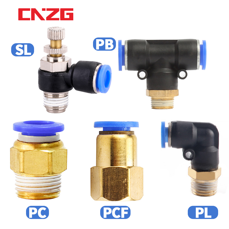 Pneumatic Air Connector Fitting PC/PCF/PL/PLF 4mm 6mm 8mm Thread 1/8