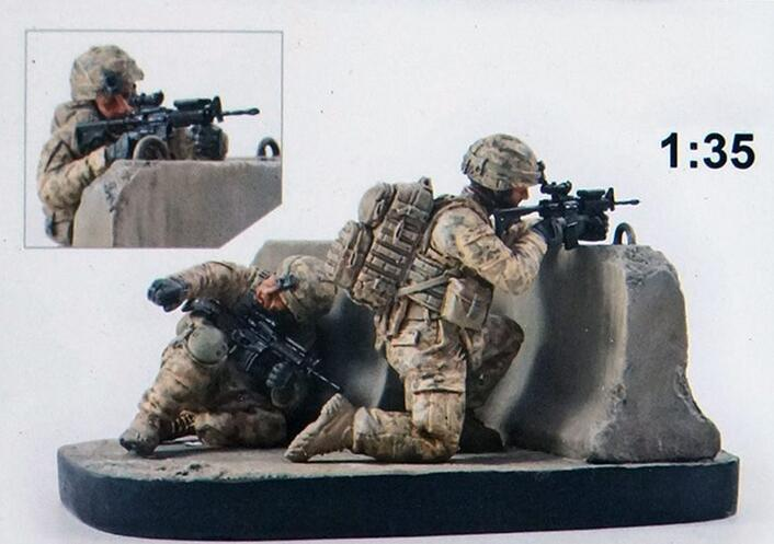 1/35 Ancient In Afghanistan Counteroffensive With Base    Toy Resin Model Miniature Resin Figure Unassembly Unpainted
