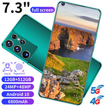 Global Version S21 Ultra 7.3 Inch SmartPhone Android10 12+512GB HD Full Screen Support Face\Fingerprint Unlock 4G 5G MobilePhone