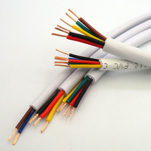 White Wire Soft Sheath Cable 2,3,4,5,6 core 0.12,0.2, 0.3mm² 27,24,22,20AWG Signal Line Extruding Produce Oxygen Free Copper 10m