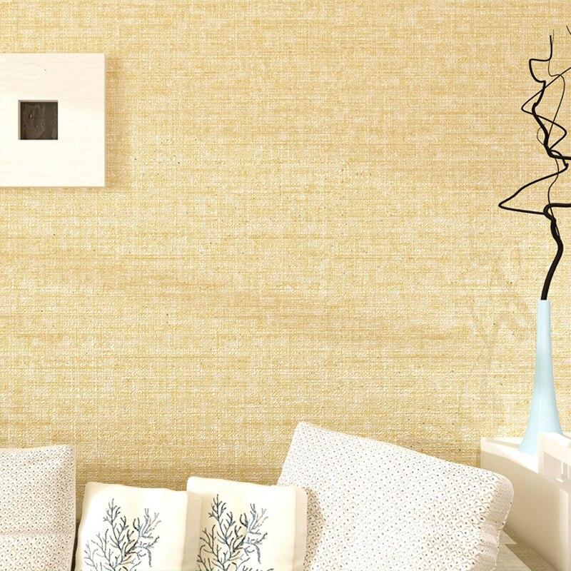 Papier peint de mosaïque de rouleau de papier peint concis moderne de lin de papier peint solide de couleur pour des murs
