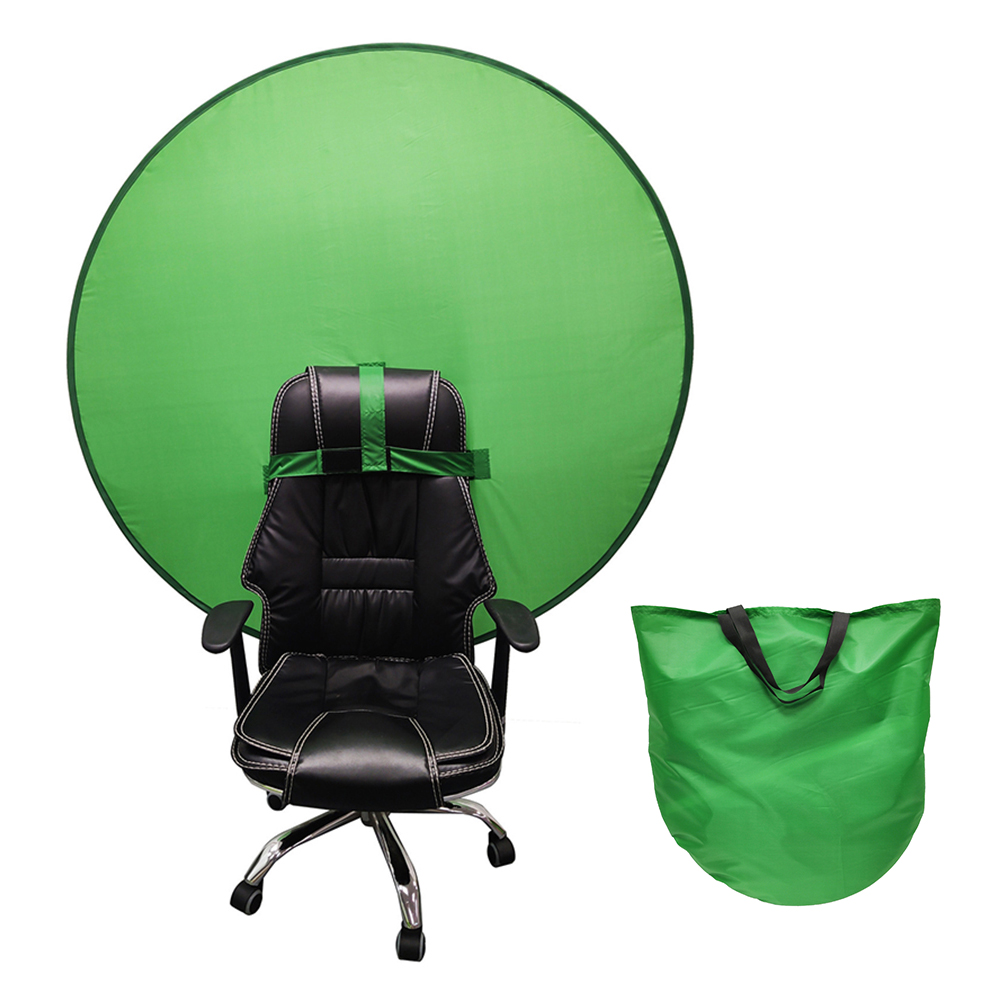 75/110cm Green Screen Photo Background Photography Foldable Reflector Backdrops Cloth for Live Video Photo Studio