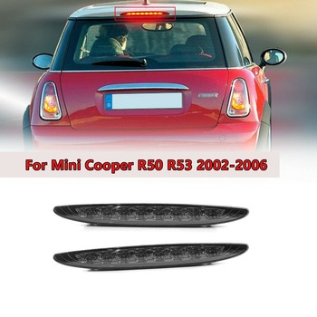 Smoked Lens Red LED 3Rd Brake Lamp for 02-06 MINI Cooper R50 R53 1St Gen, High Mount Brake Light 63256935789 фото