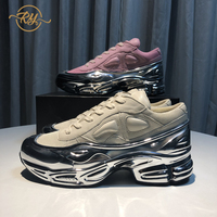 RY RELAA womens sneakers 2018 fashion Genuine Leather luxury shoes women designers INS platform high super women casual shoes