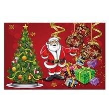 Christmas Viii Home Bedroom Front Long Non-Slip Carpet Rug Kitchen Bathroom Mat Soft Non-Slip Mat Christmas Series pebble series flannel printing home anti slip absorbent entry mat bathroom mat door mat bedside mat