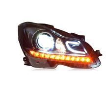 2 adet 2011 ~ 2013y araba tampon kafa ışık Mercedes W204 far C180 C200 C260 LED DRL HID xenon sis Benz W204 far