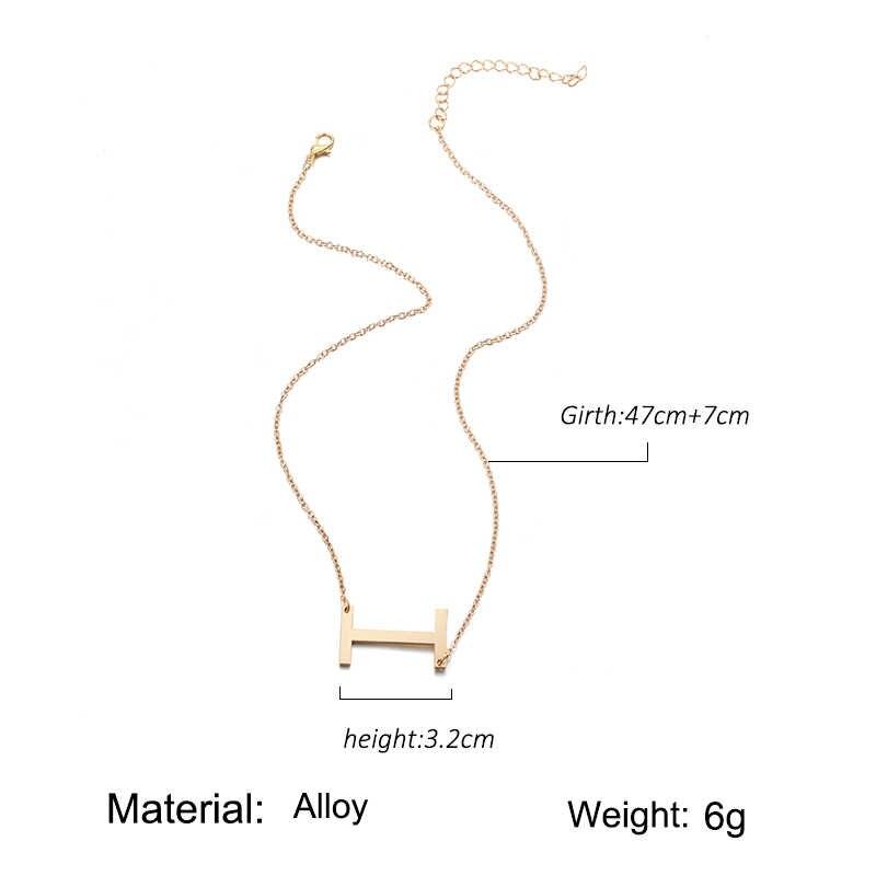 Модное металлическое ожерелье с золотыми буквами в богемном стиле простое DIY романтическое Ретро женское ожерелье для зимних ювелирных изделий подарок Бесплатная доставка