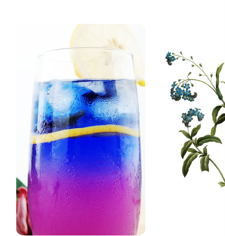 100% Pure Dried Butterfly Pea Flowers Powder