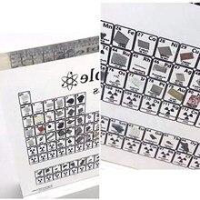 Okresowy układ pierwiastków, wyświetlacz elementów chemicznych z prawdziwymi próbkami, przezroczysty obraz laboratoryjny dekoracyjny obraz dla domu