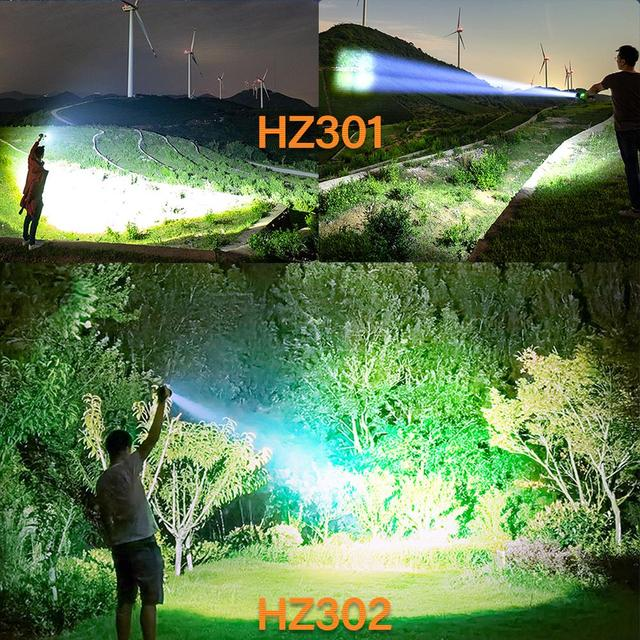 Hunting XHP50.2 High Powerful Tactical Led Flashlight Usb Rechargeable Torch Waterproof 18650 Battery Flash Light Focus XHP50 6