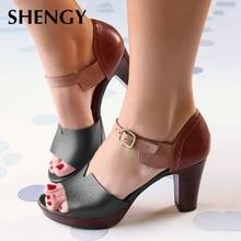 New Women Sandals Wegdge Summer Vintage Ankle Strap Elegant Ladies Shoe