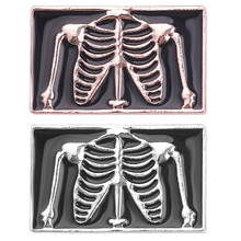Jewelry Pins Skeleton-Brooches-Pins Collar Badge Button Doctor Nurse-Jackets Enamel-Pin