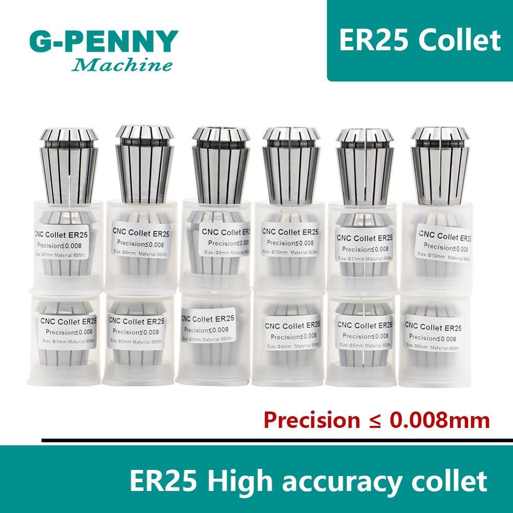 Precision ER25 2-16mm Spring Collet Set CNC Milling Lathe Tool 16 Degrees