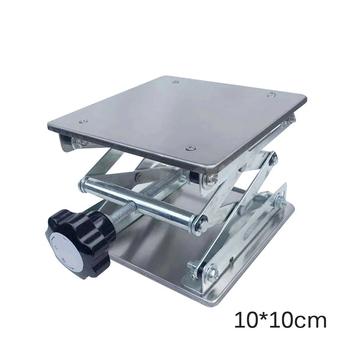 Stal nierdzewna aluminium Router stół podnoszony grawerowanie drewna Lab podnoszenie wieszak stojący podnośnik tanie i dobre opinie lift table
