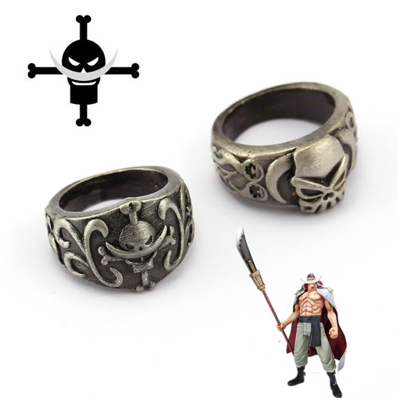 Hot New Japan Anime One Piece Ring Cosplay Accessories Edward Newgate Luffy Ace Badge Ring Fancy Fans Gift