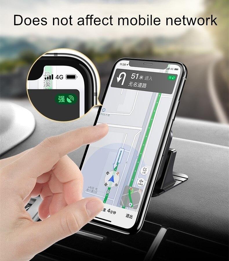 Soporte para Teléfono magnética soporte de ventilación de aire coche Clip para teléfono móvil GPS De Plata