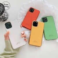 Jenny Simple placage pour iPhone 11 Pro x xr xs max 6 6s 7 8 Plus solide couleur téléphone portable TPU protection coque souple