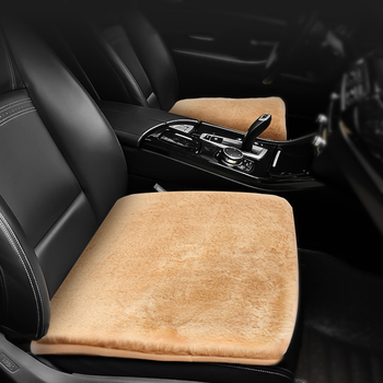 Car Seat Cover Cushion Front Row Seat Cushion Mats Universal Winter Warm Mat For Peugeot 308 3008 2008 207 107 106 Accessories image
