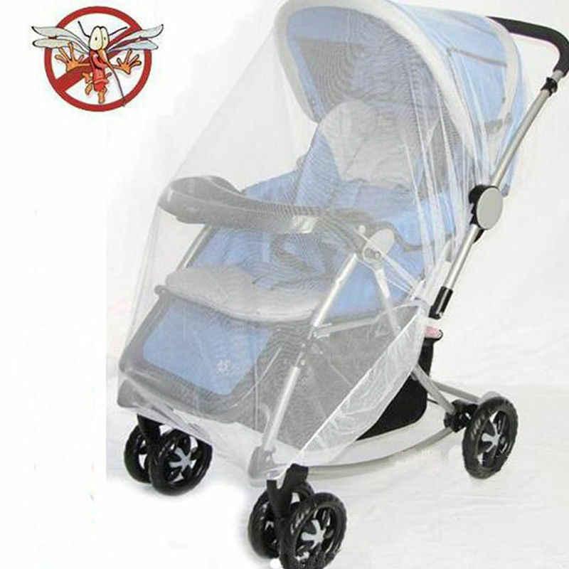 2019 nuevo bebé recién nacido bebé cochecito de bebé Crip silla de paseo Mosquito Red de insectos seguro cochecito de malla blanco