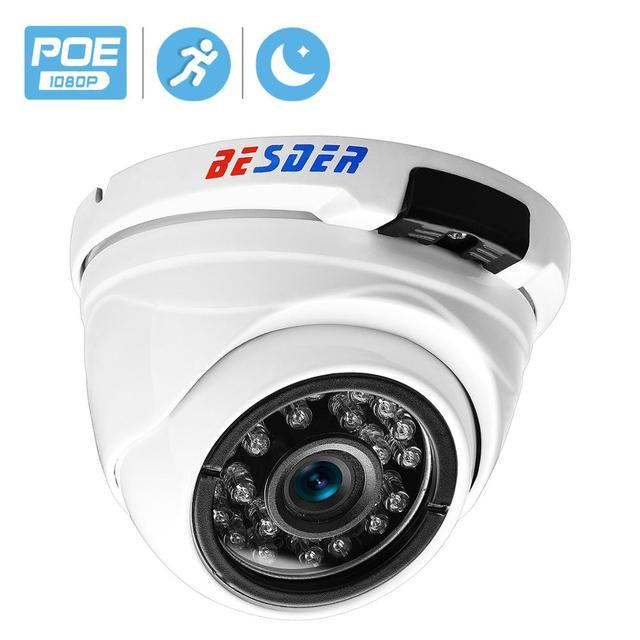 BESDER Vandal geçirmez kapalı dış mekan kubbe kamera IP geniş açı su geçirmez IP kamera 1080P 960P 720P IR gece güvenlik ev kamerası