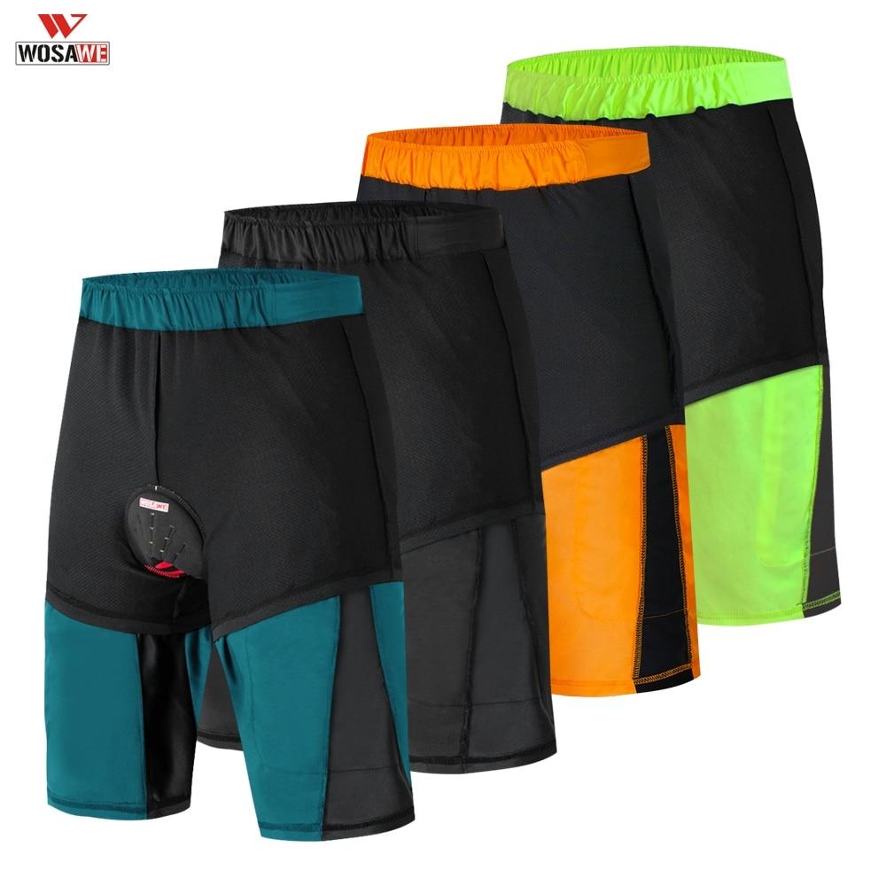 WOSAWE Men's Gel Pad Cycling Shorts Summer MTB Shorts Shockproof  Bike Short Downhill Mountain Bike Shorts Ropa Ciclismo