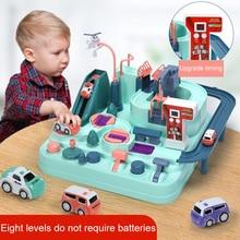 Children Adventure Toy Car Adventure Rush Through Customs Game Kids Track Railway Car Combination Inertia Train Control Tower To