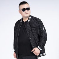 10XL 8XL 6XL 2020 coat men Spring Autumn Men's Jackets Striped Fashion Coats Men baseball jacket Bomber Jacket Male Casual Slim