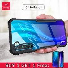 Xundd étui pour Redmi Note 8T étui Anti Shookproof Airbag Anti chute couverture souple ajusté étui Transparent pour Xiaomi Redmi Note 8T couverture