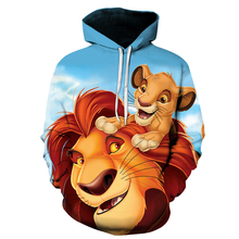 New Style3D Printed  boy and girl pullove The lion king thin hoodie Sweatshirts Hot Sale Streetwear Angry Birds 2 Casual Hoodies