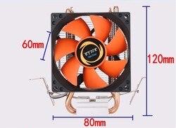 ACE COOL chłodnica procesora wentylatory Heatpipe cichy Radiator Radiator dwa drobna miedź rury ciepła dla platformy intel core AMD Sempron